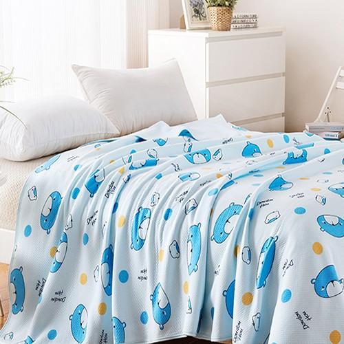 鋪棉涼被/四季被150*200cm|100%天竺棉針織|寶貝熊