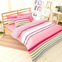 兩用被床包組-加大|100%精梳純棉|繽之粉彩