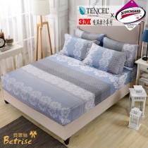 薄枕套床包組-雙人|3M專利天絲吸濕排汗|時光琉璃(台灣製)