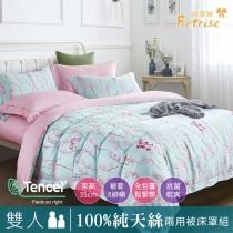 【Betrise青荷】雙人 植萃系列100%奧地利天絲八件式鋪棉兩用被床罩組