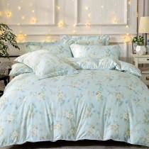 全鋪棉床罩組-雙人|銀離子防蟎抗菌天絲|綠芙