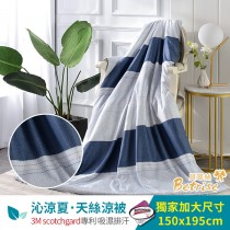 鋪棉涼被/四季被5X6.5尺|3M專利天絲吸濕排汗|年華
