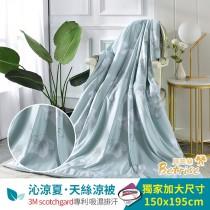 鋪棉涼被/四季被5X6.5尺|3M專利天絲吸濕排汗|漫步時-綠