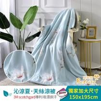 鋪棉涼被/四季被5X6.5尺|3M專利天絲吸濕排汗|清雅