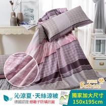 鋪棉涼被/四季被5X6.5尺|銀離子防蟎抗菌天絲|雙面伊人