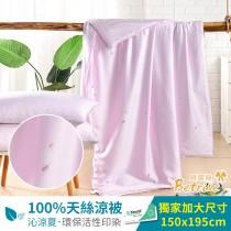 鋪棉涼被/四季被5X6.5尺|100%奧地利天絲|春息