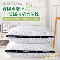枕類二入|100%聚酯纖維|德國銀離子防蟎抗菌3D立體可水洗舒眠枕