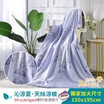 鋪棉涼被/四季被5X6.5尺|3M專利天絲吸濕排汗|夏日亭榭-藍