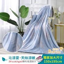 鋪棉涼被/四季被5X6.5尺|3M專利天絲吸濕排汗|飛揚-藍
