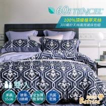 兩用被床包組-雙人|300織紗100%天絲|艾蘭尼