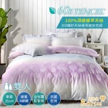 兩用被床包組-雙人|300織紗100%天絲|葉末