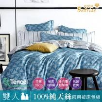 【Betrise藍天】 雙人-植萃系列100%奧地利天絲四件式兩用被床包組