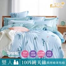 【Betrise莫蘭朵】 雙人-植萃系列100%奧地利天絲四件式兩用被床包組