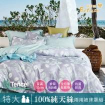 【Betrise含情脈脈】特大 植萃系列100%奧地利天絲八件式鋪棉兩用被床罩組