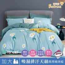 兩用被床包組-加大|3M專利天絲吸濕排汗|蜜香