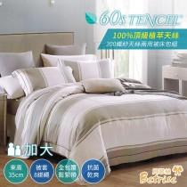 兩用被床包組-加大|300織紗100%天絲|薩格