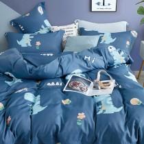 全舖棉厚包組-雙人|3M專利天絲吸濕排汗|藍色恐龍