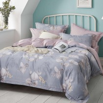 兩用被床包組-雙人|3M專利天絲吸濕排汗 | 晨間馨香-藍