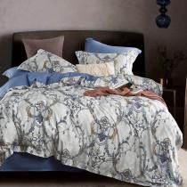 兩用被床包組-加大(被套8x7尺) 400織紗100%天絲 熠嵐