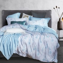 兩用被床包組-特大(被套8x7尺) 400織紗100%天絲 青窯