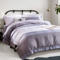 全鋪棉床罩組-雙人|3M專利天絲吸濕排汗|暮眷-灰