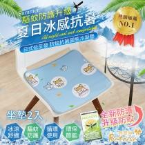 冰涼墊-坐墊2入|100%涼感固態凝膠|升級驅蚊防護-日本夯熱銷防蚊抗菌固態凝膠持久冰涼墊