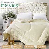 被胎-加大8X7尺|100%精梳純棉天絲|防蹣抑菌暖冬被(台灣製)